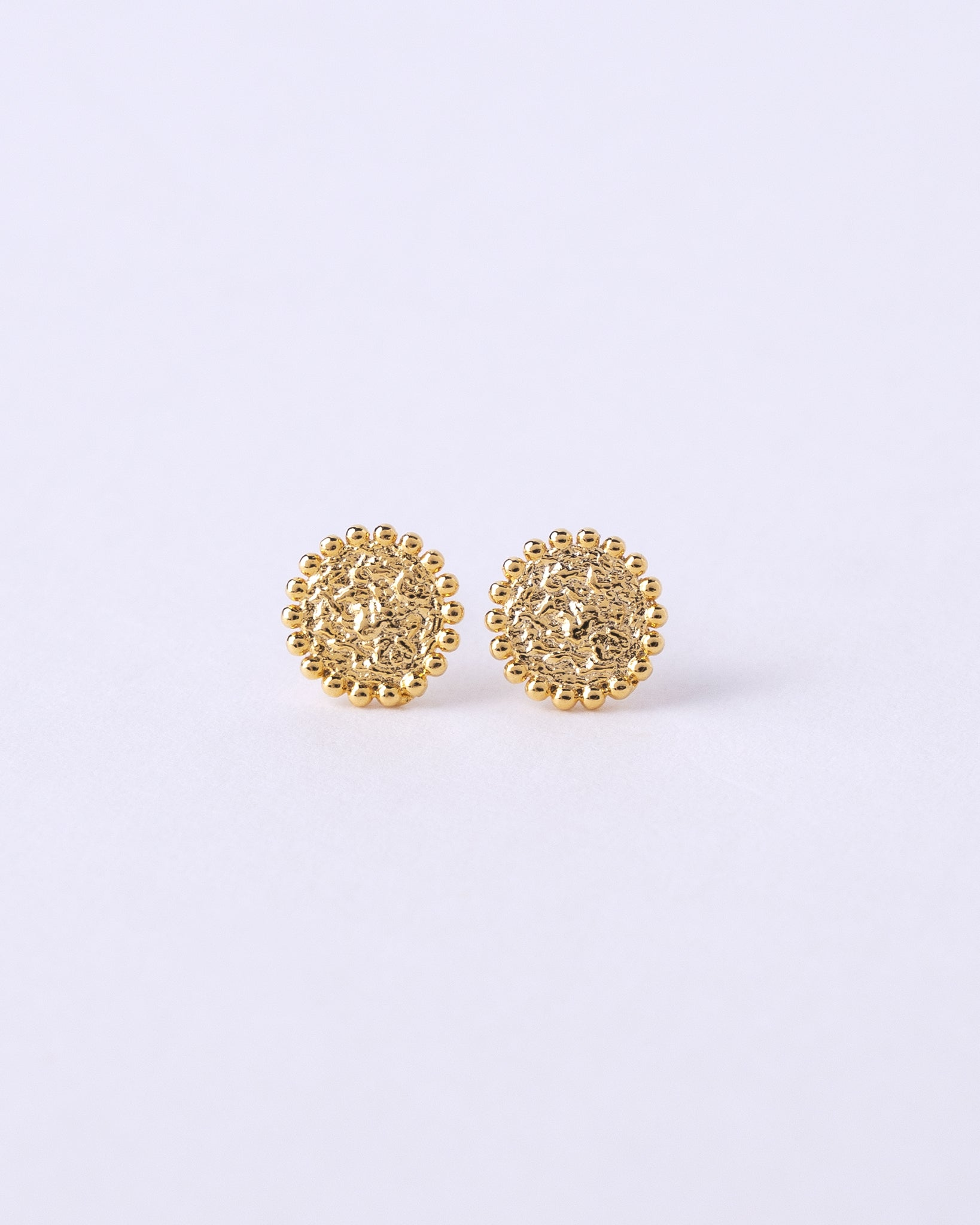 Hammered Coin Post Earring
