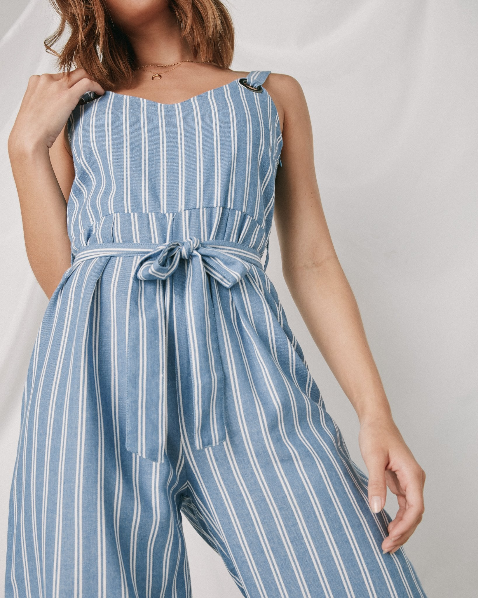 Wide Stripes Jumpsuit