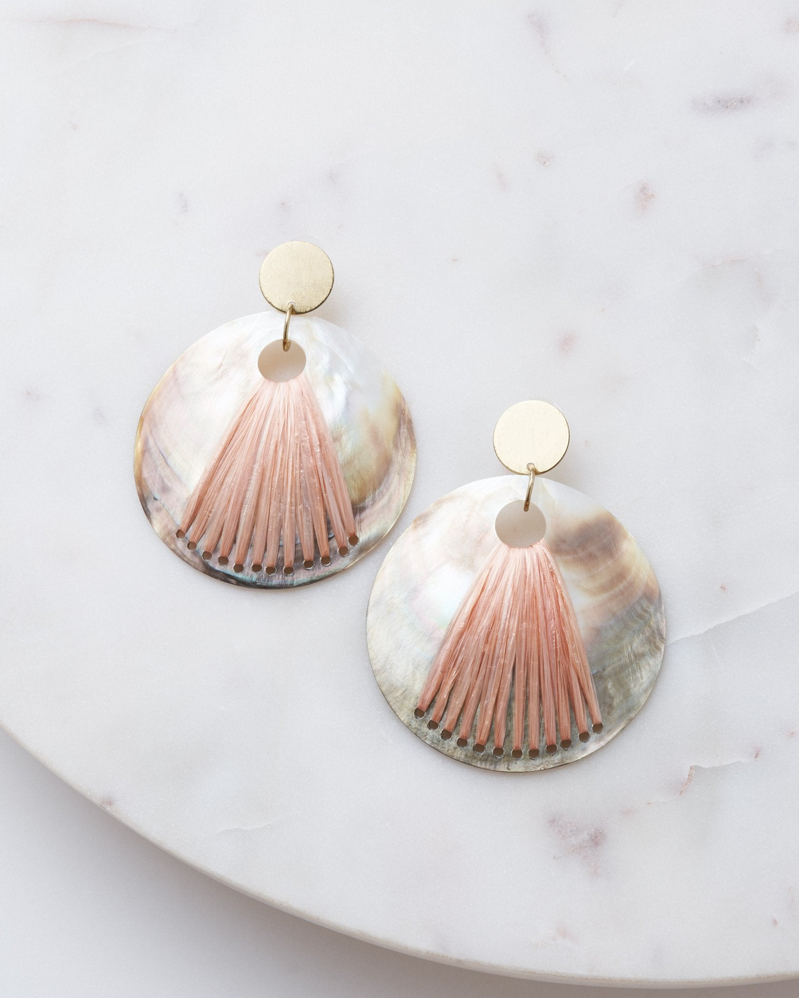 Pink Shell Statement Earring