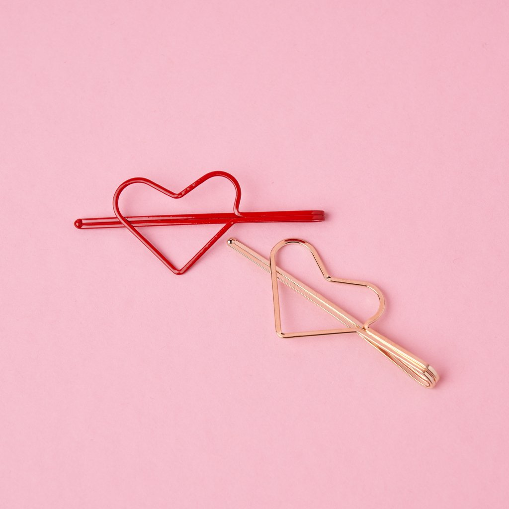 HEARTS HAIRPINS