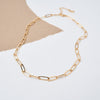 14K GOLD PLATED STATEMENT LINK LAYERING CHAIN