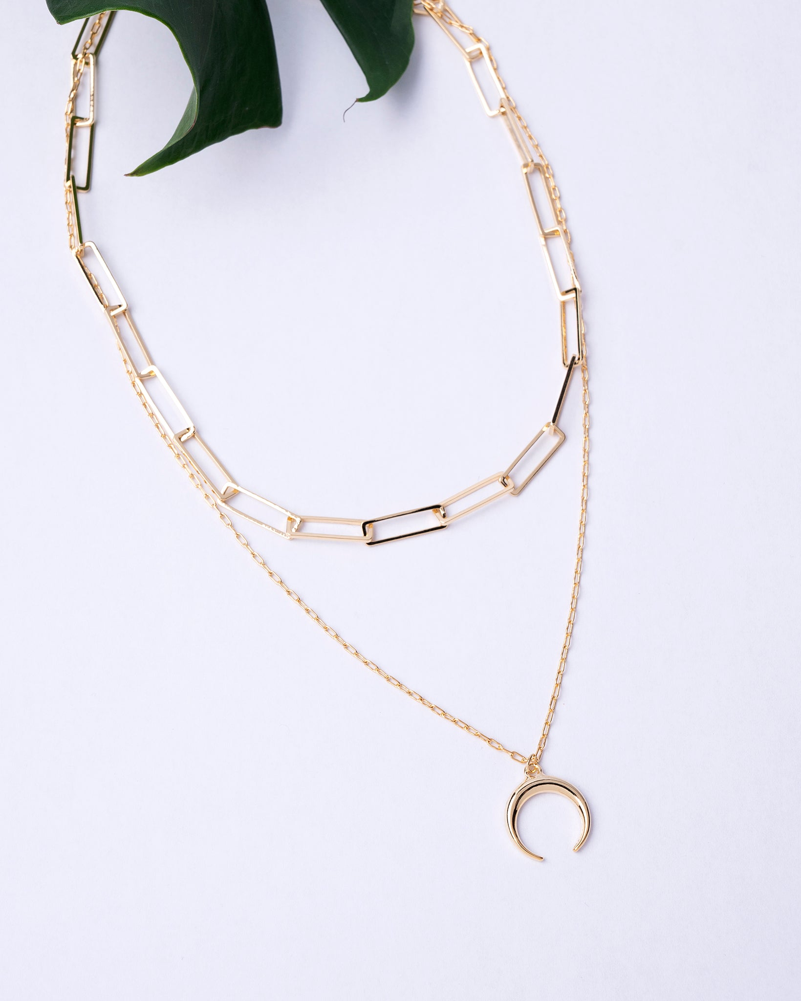 Cosmic Moon Layered Necklace