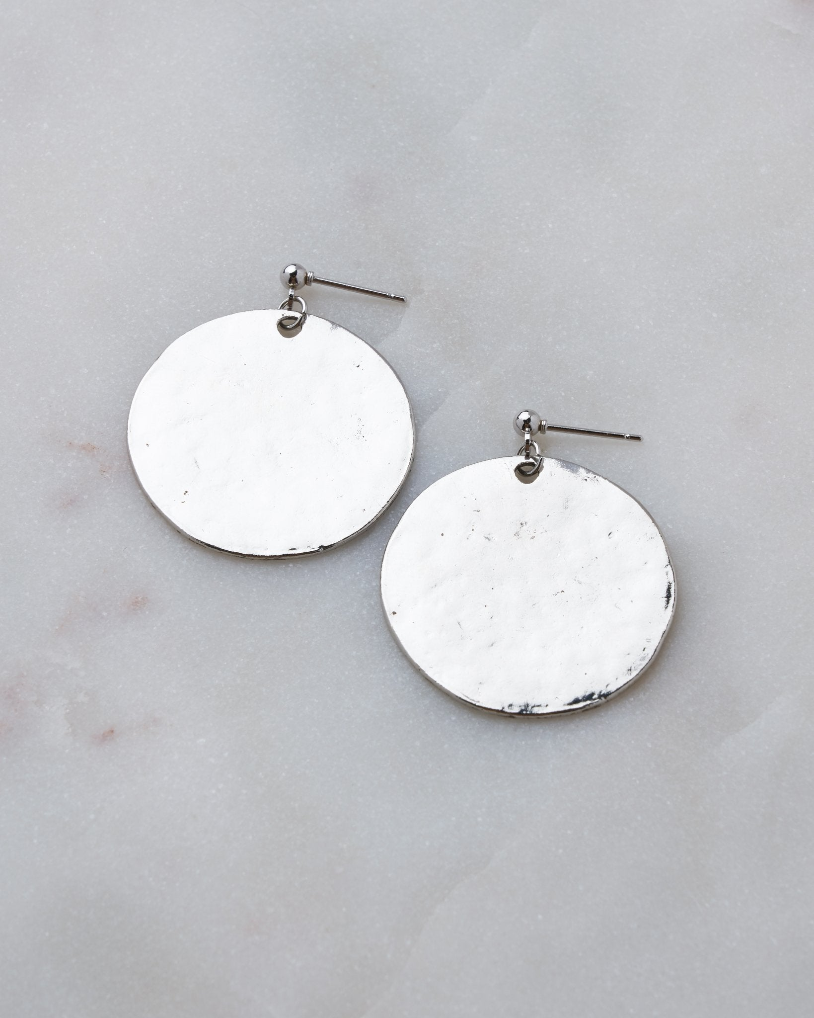 Hammered Coin Earring