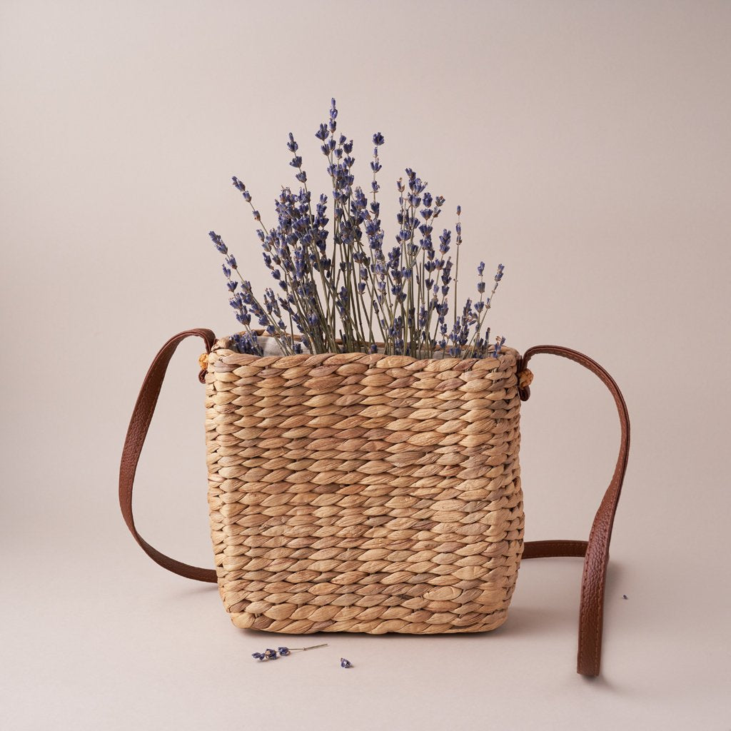 SQUARE STRAW BAG
