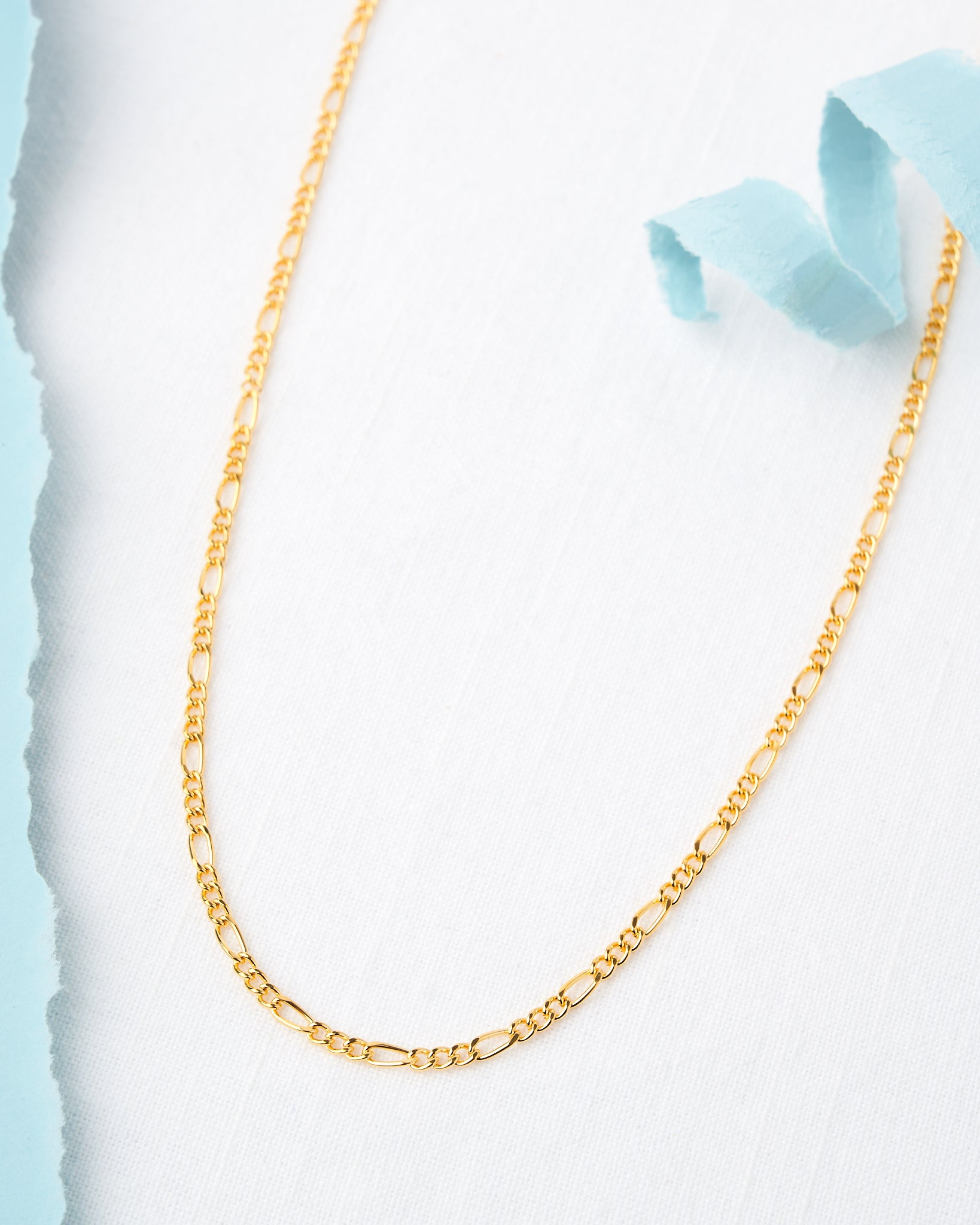 14K Plated Figaro Chain Necklace