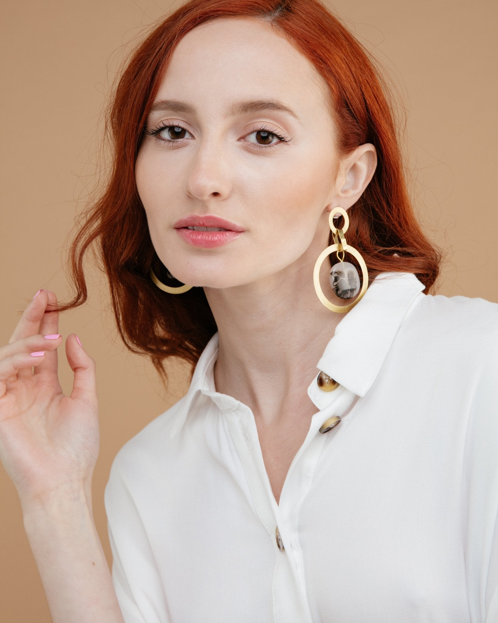 Dalmata Linked Earring
