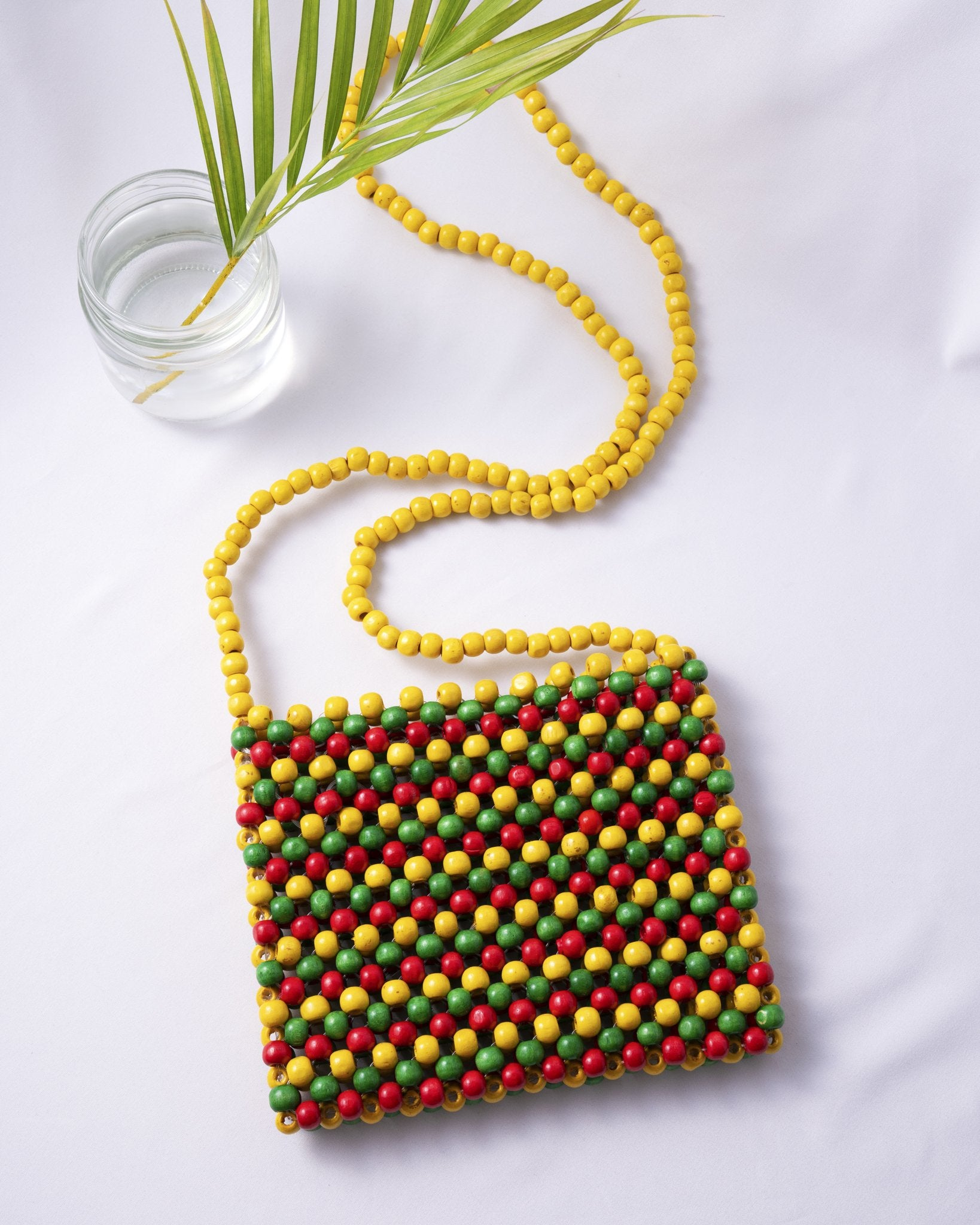 Rasta Beaded Bag