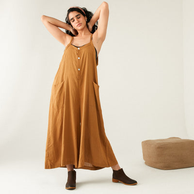 POCKET OVERSIZE OVERALL JUMPSUIT