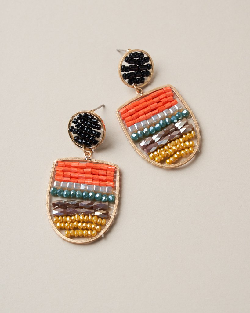Dotted Beaded Earring