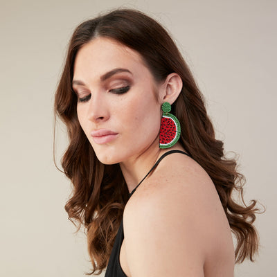WATERMELON DROP EARRING