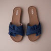 DENIM BOW FLAT