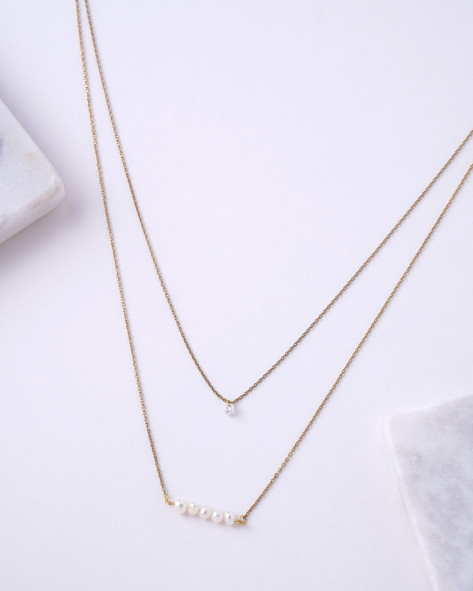 Pearl Line Delicate Necklace