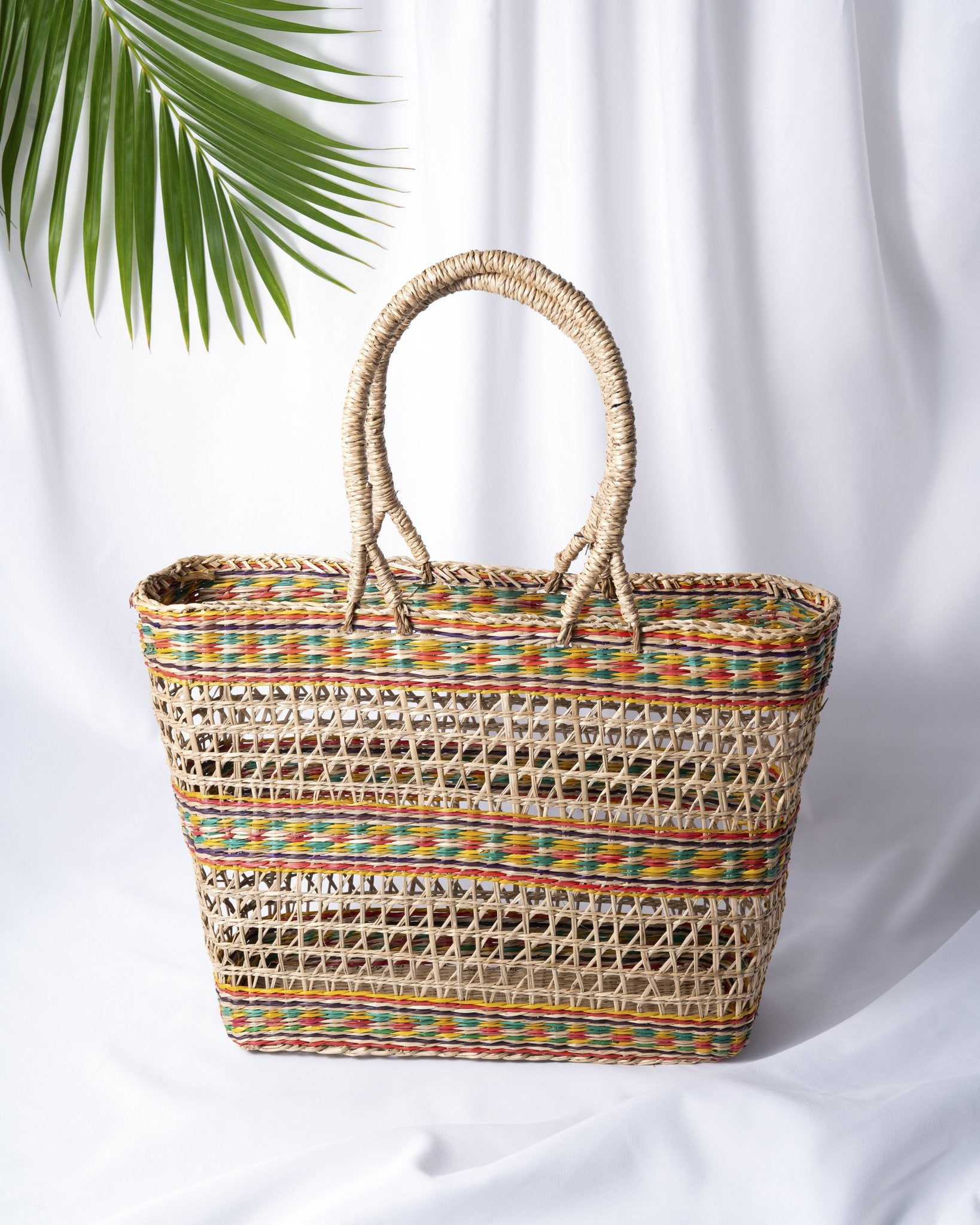 Multicolor Basket Bag