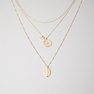 14K PROTECTION LAYERED NECKLACE