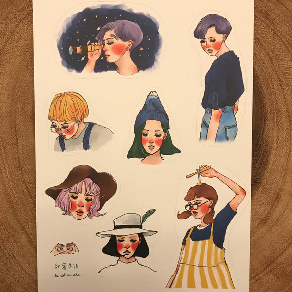 La Dolce Vita Sticker Sheet, Finding the Perfect Spot Travel | 甜蜜生活貼紙, 尋找極光的旅程