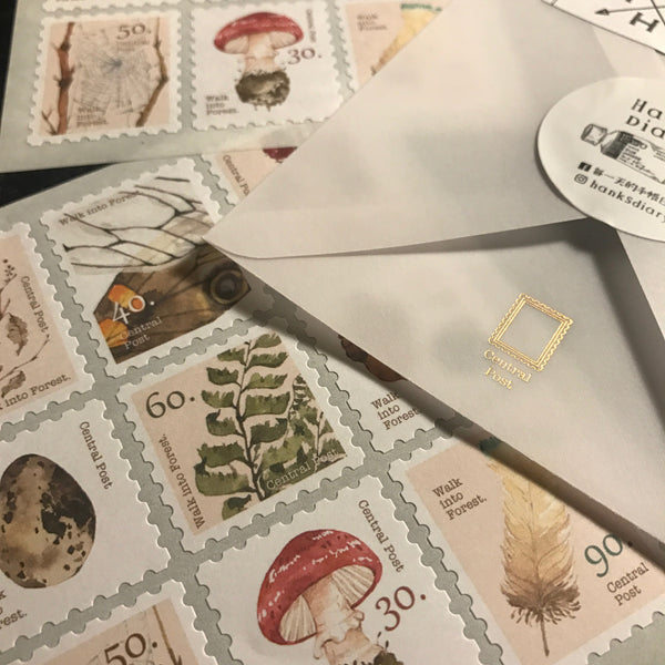 Ours Postage Stamps Sticker, Forest | 漢克 森林採集郵票貼紙