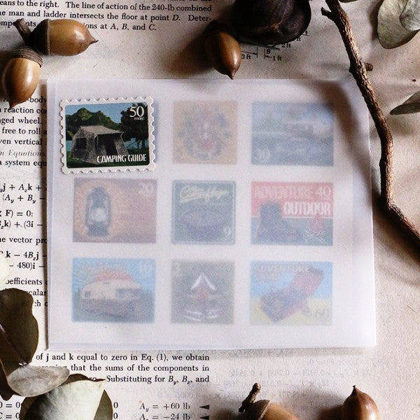 Lin Chia Ning Postage Stamps Sticker, Camping | 吉 露營郵票貼紙