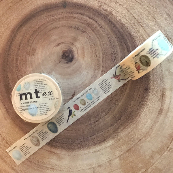 mt Masking Tape 2016 Fall/Winter Release EX Bird Egg  | mt紙膠帶 2016秋冬新品 EX 鳥蛋圖鑒
