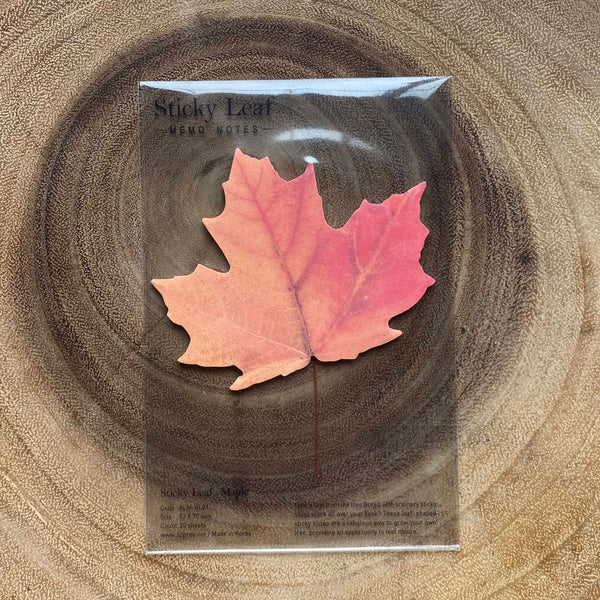 Appree Sticky Leaf Memo Notes, Red Maple