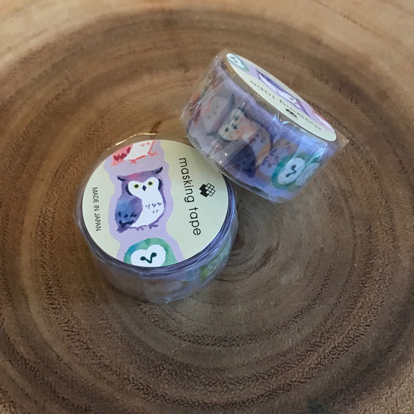 Mind Wave Owls Washi Tape Series | 貓頭鷹文房具紙膠帶