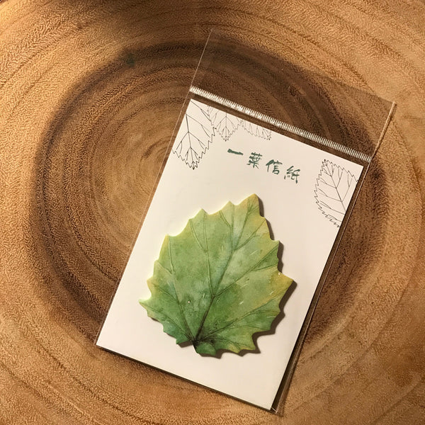 Card Lover Sticky Notes Leaf Letter Series | 信的戀人便利貼 一葉信纸系列