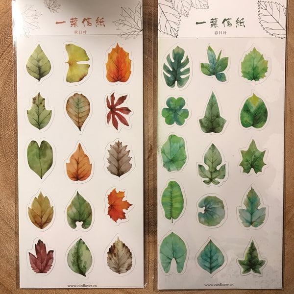 Card Lover Stickers Leaf Series | 信的戀人貼紙 一葉系列