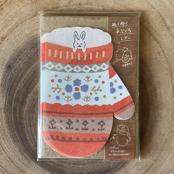 Furukawa Shiko Wa-Life Washi Mini Letter Set, Gloves Series | 古川紙工 Wa-Life 手套造型便箋組