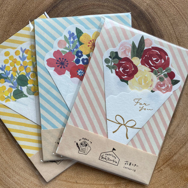 Furukawa Shiko Wa-Life Mini Letter Set, Bouquet Series | 古川紙工 Wa-Life 花束造型便箋組