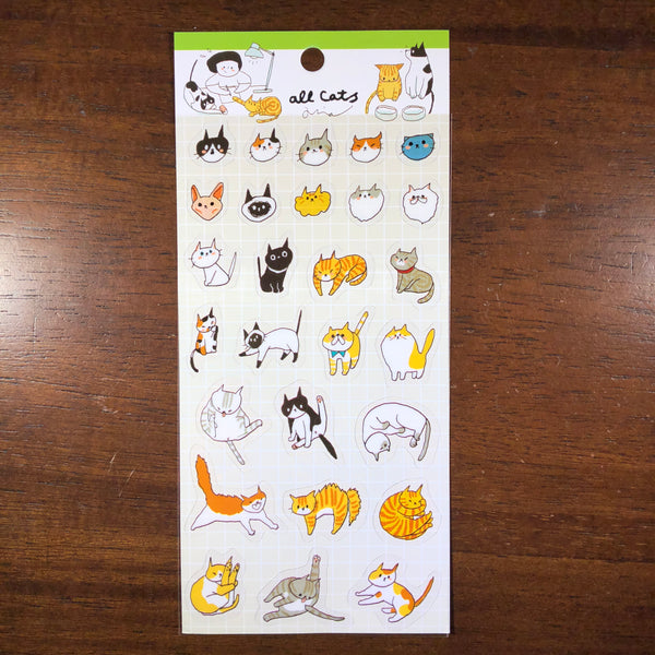 Mia Sticker, All Cats | Mia透明貼紙,都是貓