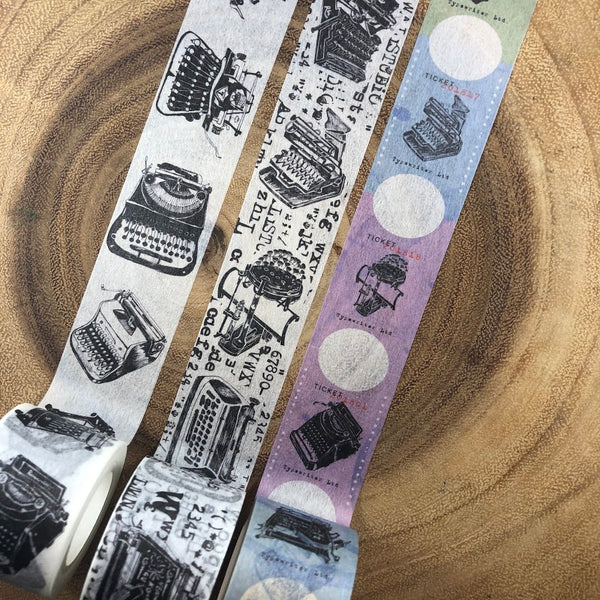 Wali Studio Typewriter Washi Tape Vol. 2 | 瓦力工作室 紙膠帶 打字機Vol. 2