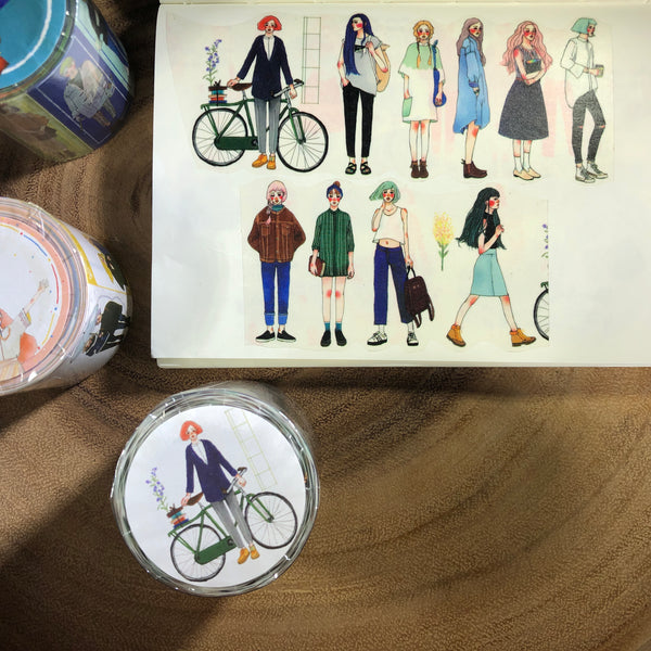 La Dolce Vita Washi Tape, Girls in the Stationery Store | 甜蜜生活紙膠帶, 文具店裡的人