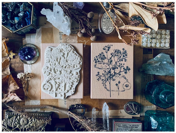 Lin Chia Ning Rubber Stamp Set, Dried Flower A | 吉 橡皮印章組, 乾燥花 A