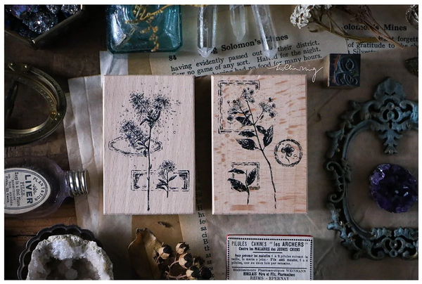 Lin Chia Ning Rubber Stamp Set, Dried Flower C | 吉 橡皮印章組, 乾燥花 C