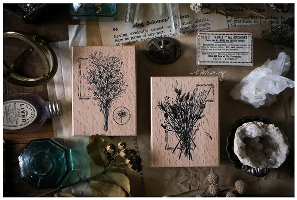 Lin Chia Ning Rubber Stamp Set, Dried Flower E | 吉 橡皮印章組, 乾燥花 E