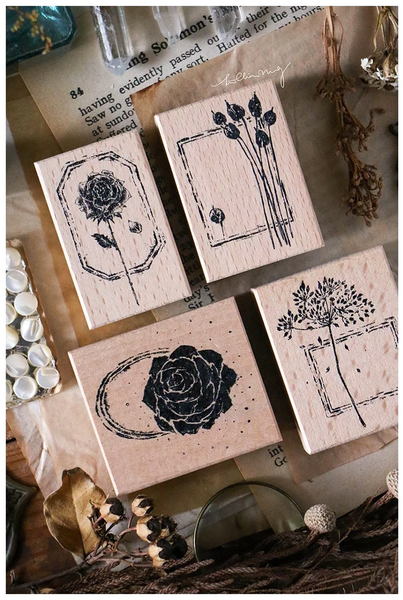 Lin Chia Ning Rubber Stamp Set, Dried Flower F | 吉 橡皮印章組, 乾燥花 F