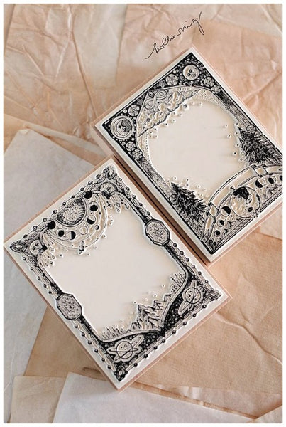 Lin Chia Ning Rubber Stamp Set, Astronomy Frames | 吉 畫框自黏印章組, 天文學