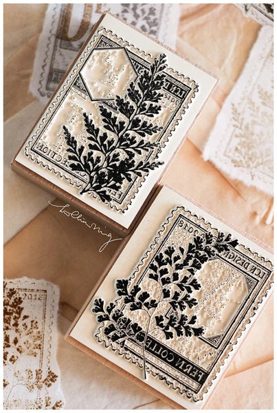 Lin Chia Ning Rubber Stamp Set, Fern Postage Stamp | 吉 蕨葉郵票自黏印章組