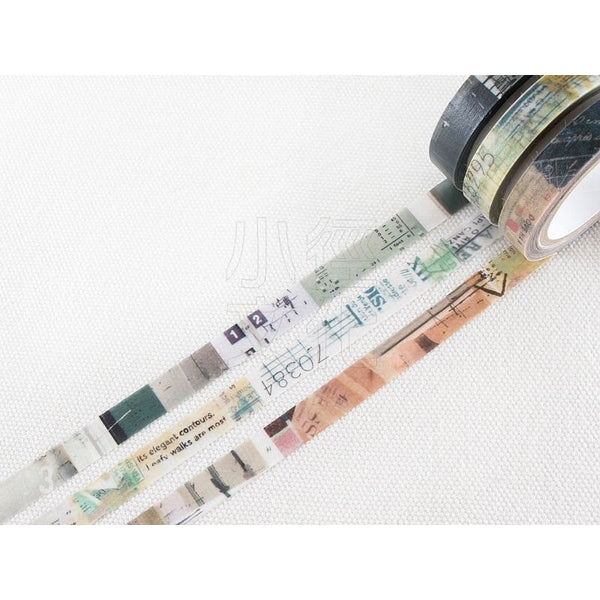 Chamil Garden Washi Tape Colors of Seasons | 小徑文化 x 夏米花園 季色