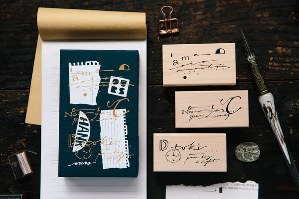 Ours Stamp Daily Cursive Set A | 漢克 x 庫巴 日常草書印章組 A