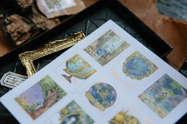 Ours Postage Stamps Sticker, The Wayfarer | 庫巴 旅者足跡郵票貼紙