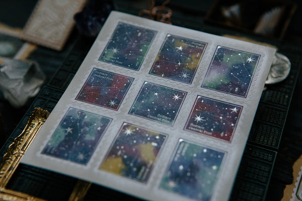 Ours Postage Stamps Sticker, Zodiac | 漢克 黃道星空郵票貼紙