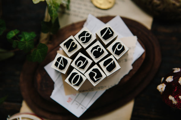 Ours Numbers in Black Stamp Set | 漢克 x 庫巴 陰刻數字印章組