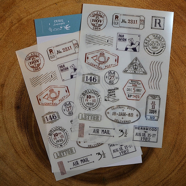 Ours Transfer Sticker Paper, Vintage | Ours 轉印貼紙, 復古篇