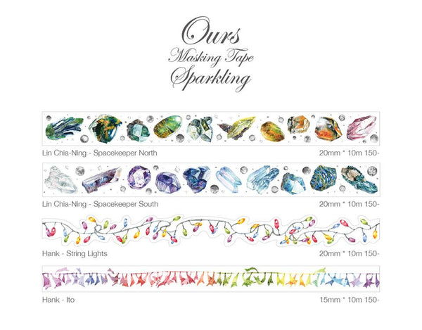 Ours Washi Tape Sparkling Collection