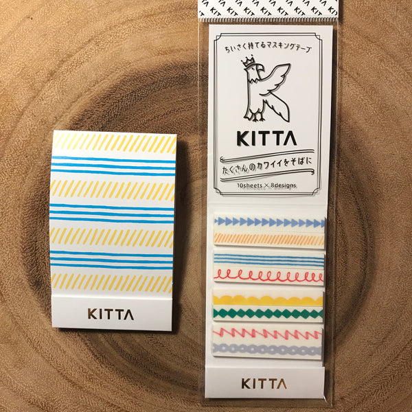 King Jim KITTA Washi Strips, Slim | 錦宮 KITTA和紙標籤貼紙 窄版系列