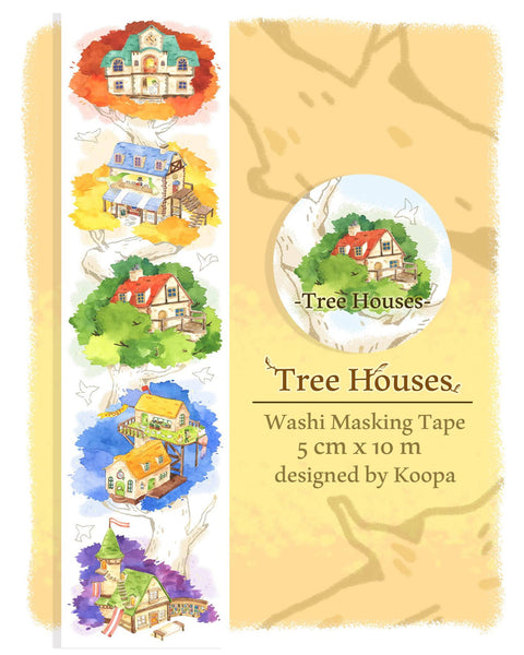 Ours Washi Tape - Tree Houses