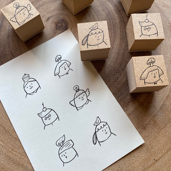 avocado mori Stamp Set, My Little Hat | 森酪梨印章組, 我的小帽子