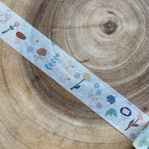 avocado mori Washi Tape, Spring Garden | 森酪梨紙膠帶, 春日花園