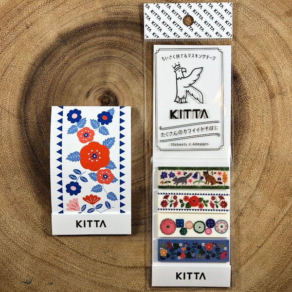 King Jim KITTA Washi Strips, Illustration | 錦宮 KITTA和紙標籤貼紙 插畫系列