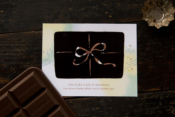 Ours Smart Cards, Chocolate | 漢克 巧克力感溫明信片